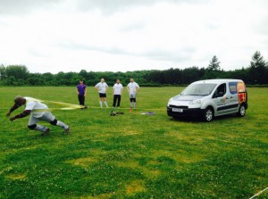 THE BOLNORE FUNDRAISER IN MEMORY OF JOEL DEVALDA - Strongman pulls BSW Van