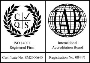 ISO 14001:2004 Accreditation Logo